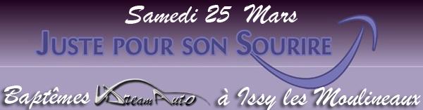 Sam 25 Mars - Baptêmes Autos pour JP2S à Issy-les-Moulineaux